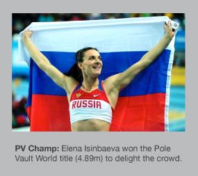 Elena Isinbaeva won gold in front of her home crowd