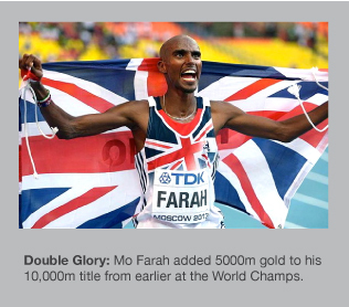 Mo Farah is a double World Champion