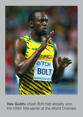Usain Bolt successfully defended his 200m World title
