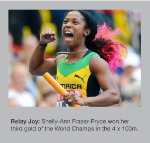 Shelly-Ann Fraser-Pryce wins her third gold of the World Champs