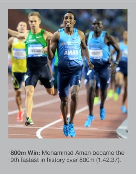Mohammed Aman stormed away to win in Brussels