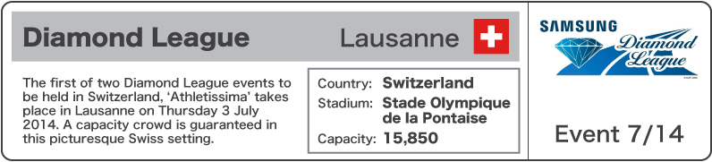 2014 Diamond League Event 7 - Lausanne