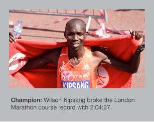 Wilson Kipsang won the 2014 London Marathon in style