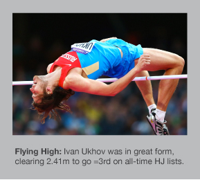 Ivan Ukhov cleared 2.41m to win in Doha