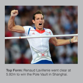 Renaud Lavillenie won the Pole Vault in Shanghai