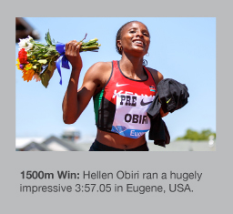 Hellen Obiri was a commanding 1500m winner