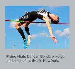 Bohdan Bondarenko soars over 2.42m