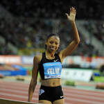8-time World Champion Allyson Felix (USA) after winning 200m