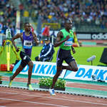 800m WR holder David Rudisha (Kenya) on his way to victory