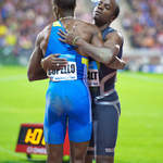Cuban Triple Jumpers Alexis Copello and Arnie David Girat embrace
