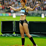 Slovakian Triple Jumper Dana Veldakova seeks support from crowd