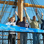 2010 Great South Run - leading contenders on HMS Warrior