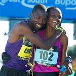 2010 Great South Run - winners Joseph Ebuya and Grace Momanyi