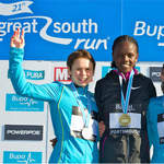 2010 Great South Run - Women medallists