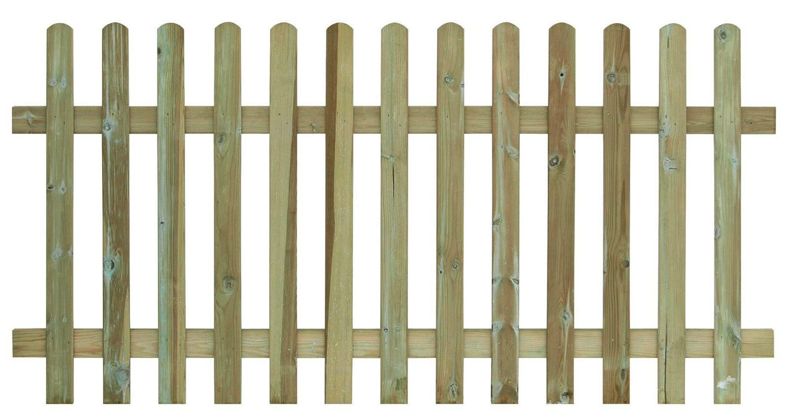 Round Top Palisade (Picket) Panel all sizes from