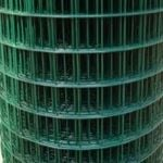 "Weld Mesh 3.55/3.0mm Green Plastic Coated all sizes (25mt roll) 2"" x 2"" square"