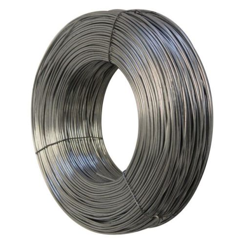Galvanised line wire.