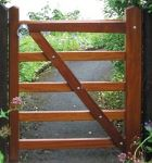 Hunting Gate in Hardwood