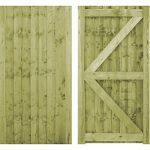 Flat Top closeboard gate with capping all sizes from