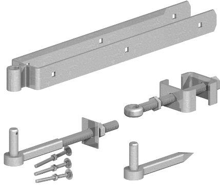 <!-- 0003 -->Adjustable Field Gate Hinge Set