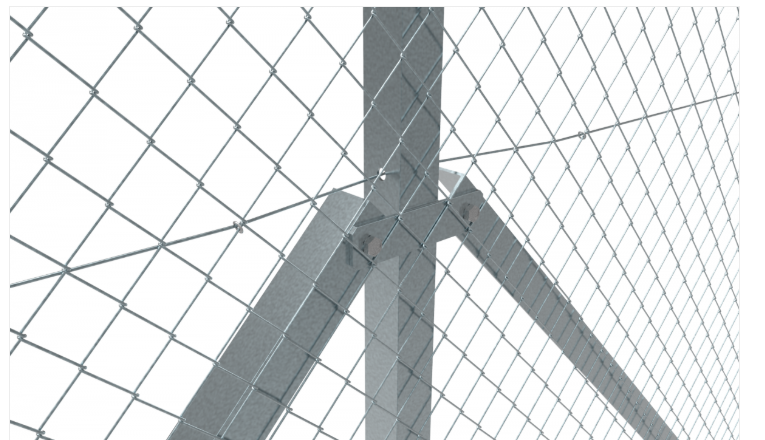 Galvanised Chain Link Intermediate Post