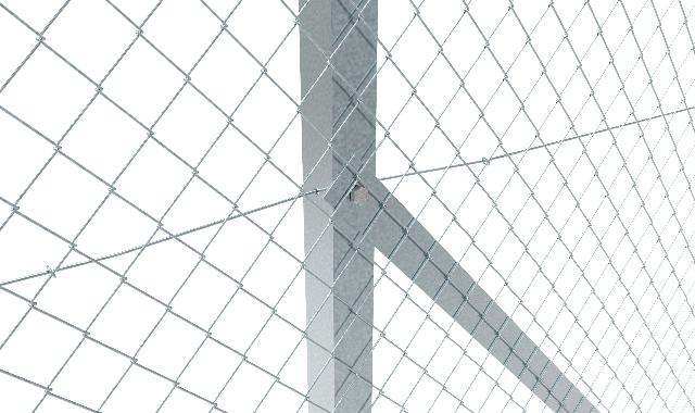 Galvanised Angle End Post