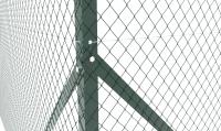 Painted 2 way angle corner post (Black or Green )