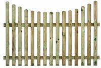 Concave Palisade Fence Panel  all sizes from