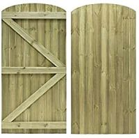 Ftat Top Feather Edge bow top Gate (ledged and braced )  all sizes
