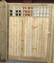 Closeboard Gate Square Trellis Top all sizes