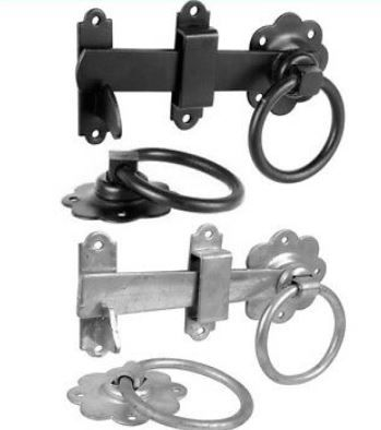 <!-- 0009 --> Ring Latch Black or Galv from