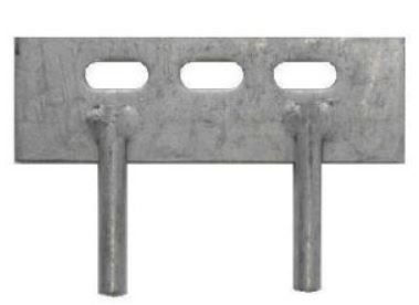 Galvanised Cleats for gravel boards 12