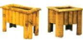 Rustic Log Planters Square or Oblong