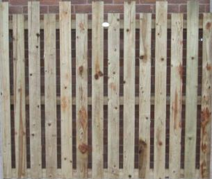 Turret Top Palisade Fence Panel from