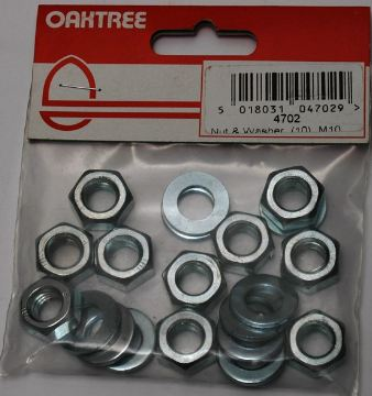 nut and washer pack from