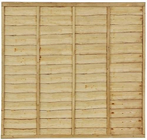 6' x 6' Waney Edge/Overlap Fence Panel