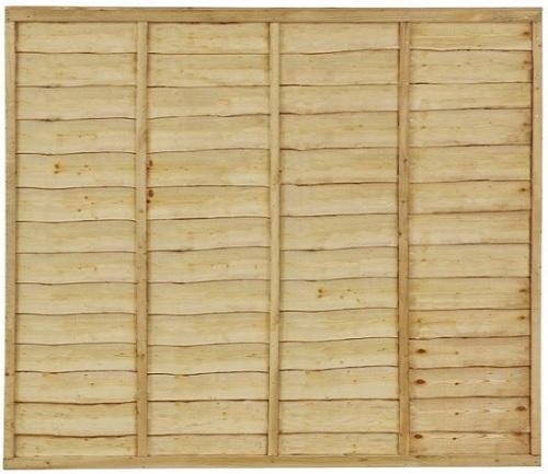 5' x 6' Waney Edge/Overlap Fence Panel