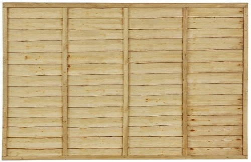 3' x 6' Waney Edge/Overlap Fence Panel