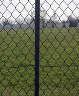 Black Intermediate chain link post from