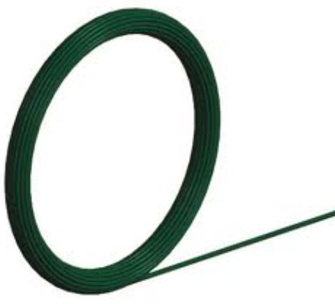 Green PVC coated & zinc core line wire 25 metres 3.55/2.50mm