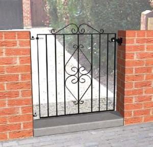 Ascot wrought iron entrance gate