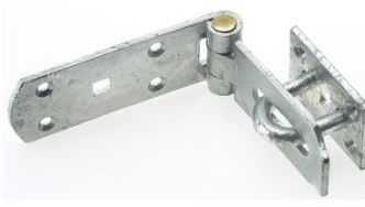 6 inch hasp and staple with brass pin