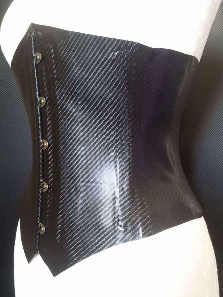 Carbon Fibre Corset with Busk front