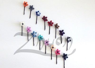 Mini Latex Hair Flower (pair)