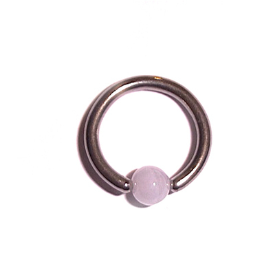 Captive Ball Ring with White UV Ball