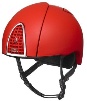 KEP Jockey/Endurance Rainbow Riding Helmet - Red (£404.17 Exc VAT or £485.00 Inc VAT)