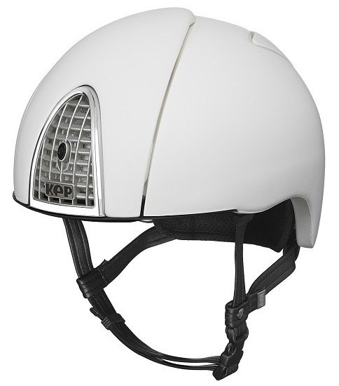 KEP Jockey/Endurance Rainbow Riding Helmet - White (£404.17 Exc VAT or £485