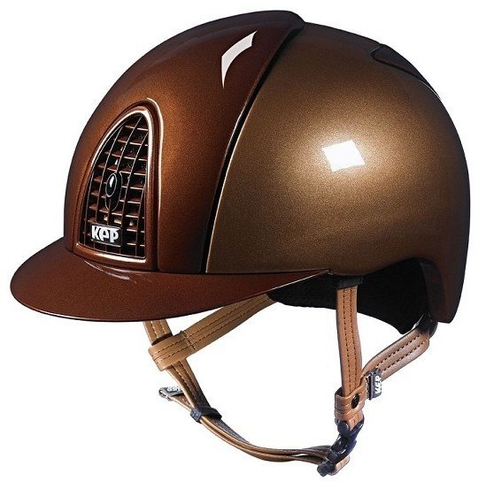 KEP Cromo Metal Metallic Riding Helmet - Caramel/Bronze Metallic (£462.50 E