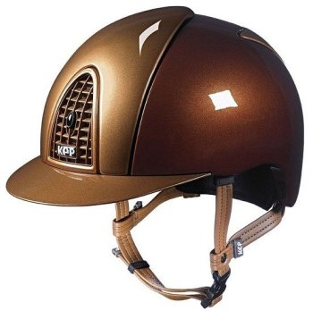 KEP Cromo Metal Metallic Riding Helmet - Bronze/Caramel Metallic (£499.17 Exc VAT & £599.00 Inc VAT)