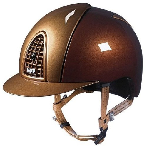 KEP Cromo Metal Metallic Riding Helmet - Bronze/Caramel Metallic (£462.50 E